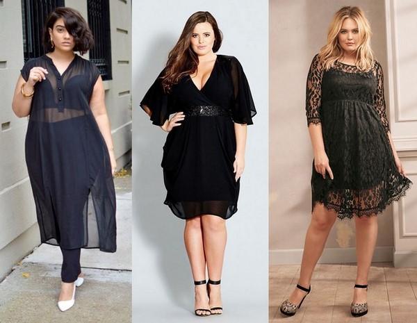 Какие фасоны платьев подходят полным девушкам